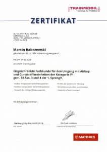 Zertifikat Rabczewski